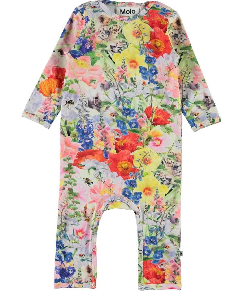 Fiona - Hide And Seek - Organic baby romper with flowers