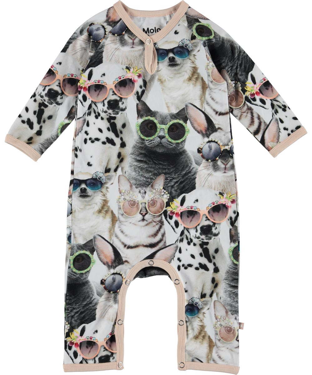 Fiona - Sunny Funny - Baby romper with animal print.
