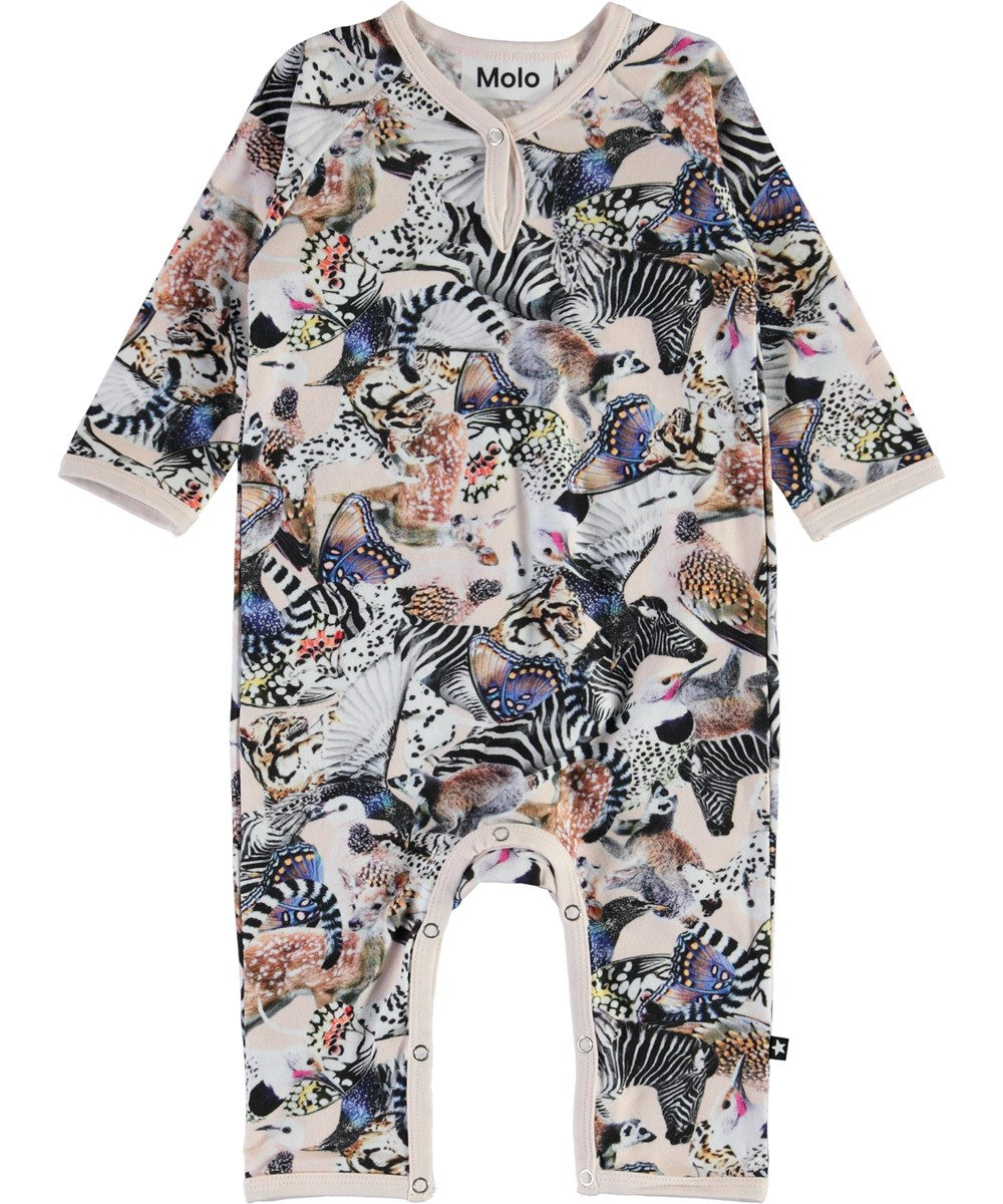 Fiona - Twister - Organic baby romper with animals