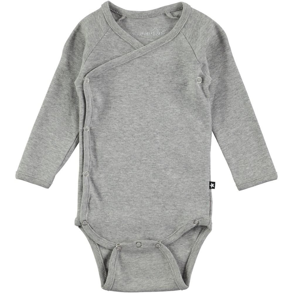 Flossie - Grey Melange - Grey long sleeve body stocking