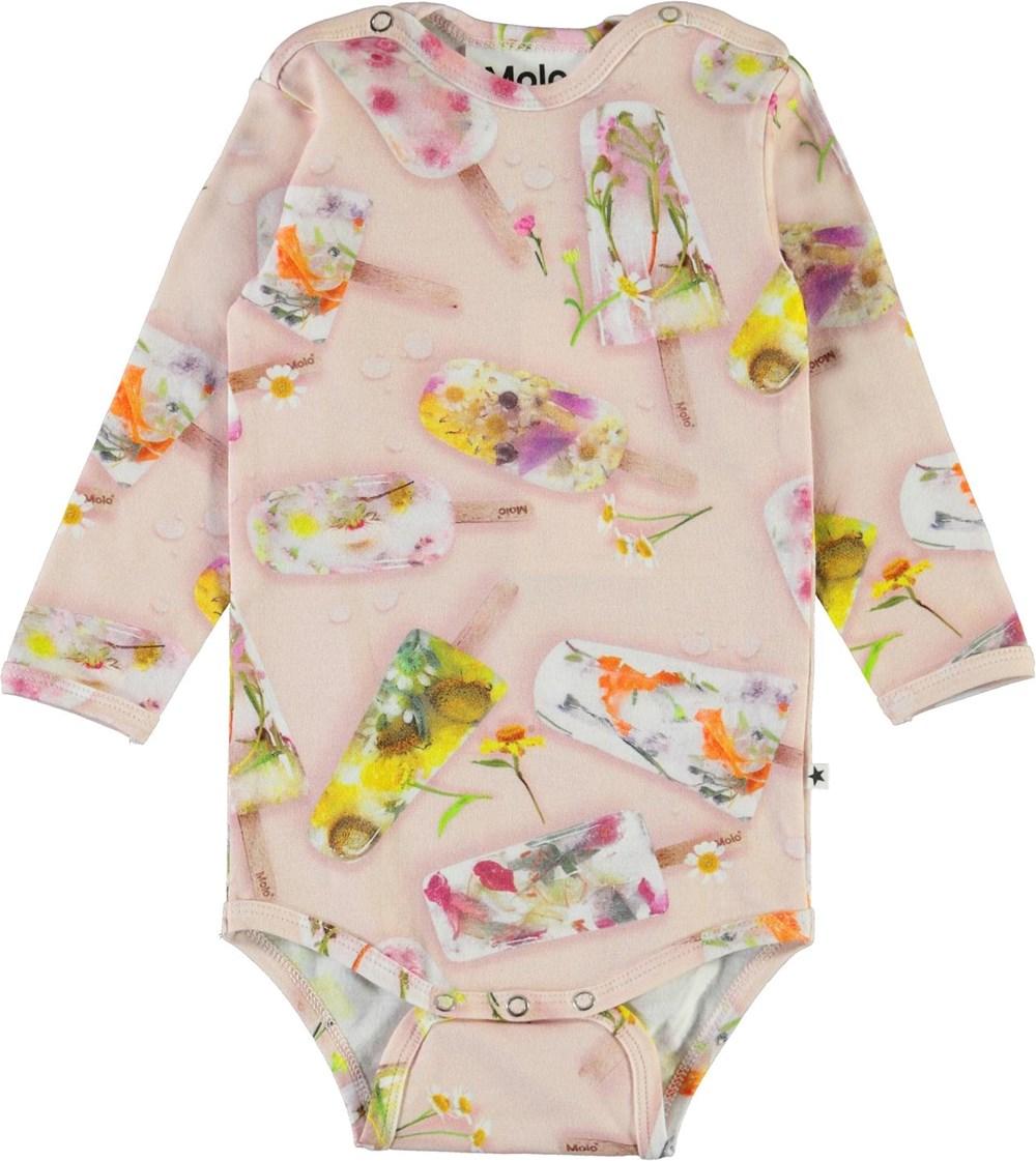 Fonda - Ice Lollies - Organic baby bodysuit with ice cream print