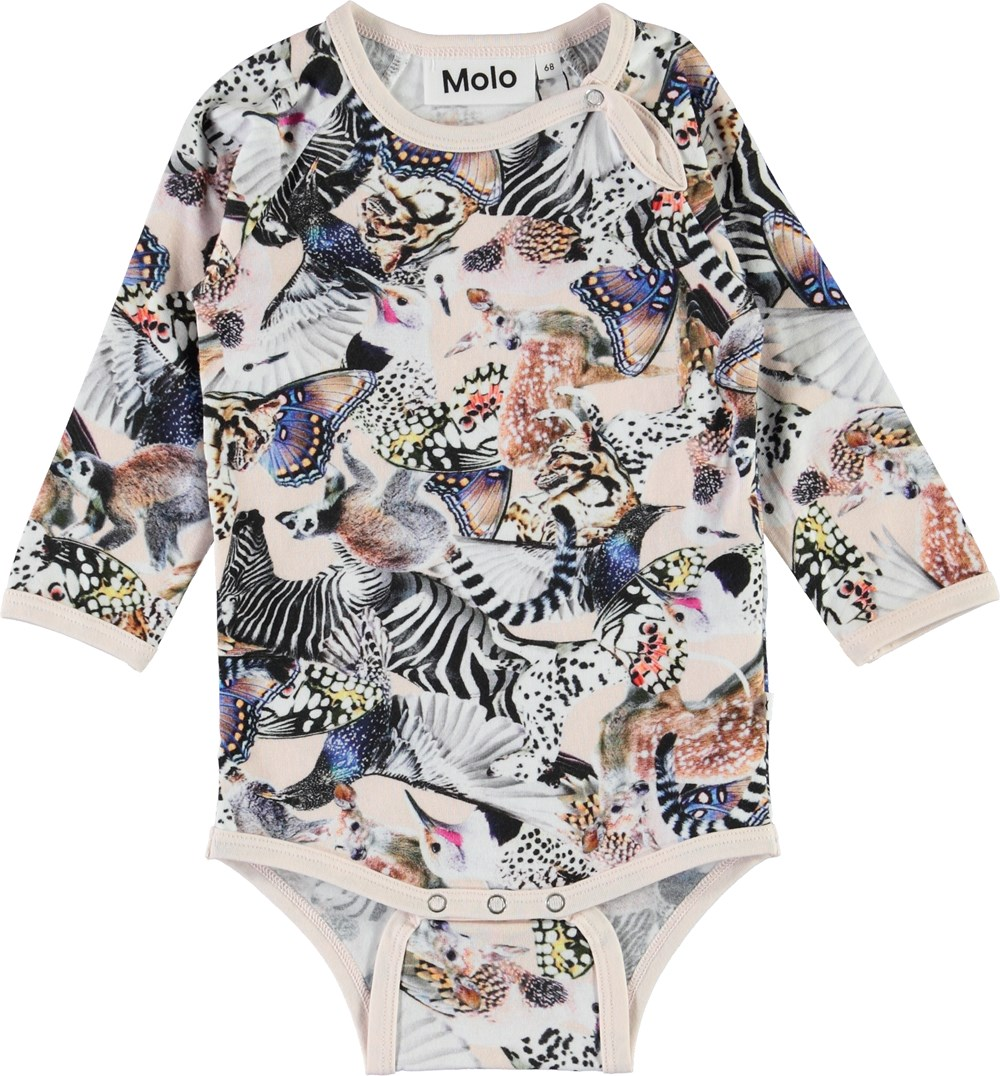 Fonda - Twister - Baby bodysuit with animal print