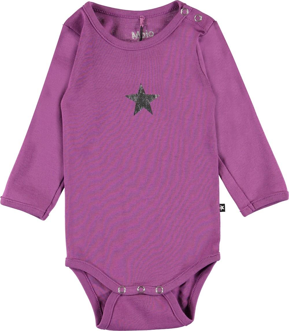 Foss - Amethyst - Organic purple baby bodysuit