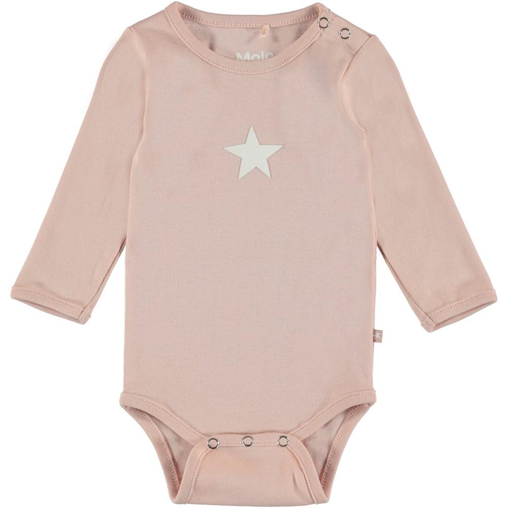 Foss - Cameo Rose - Long sleeve baby bodysuit in rose.