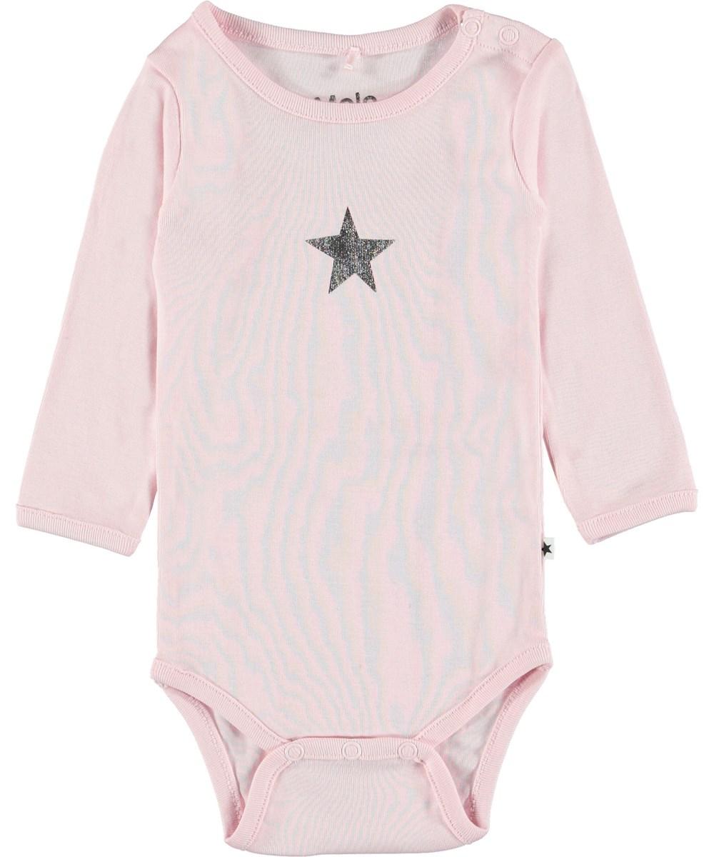 Foss - Chalk Pink - Pink baby bodysuit.