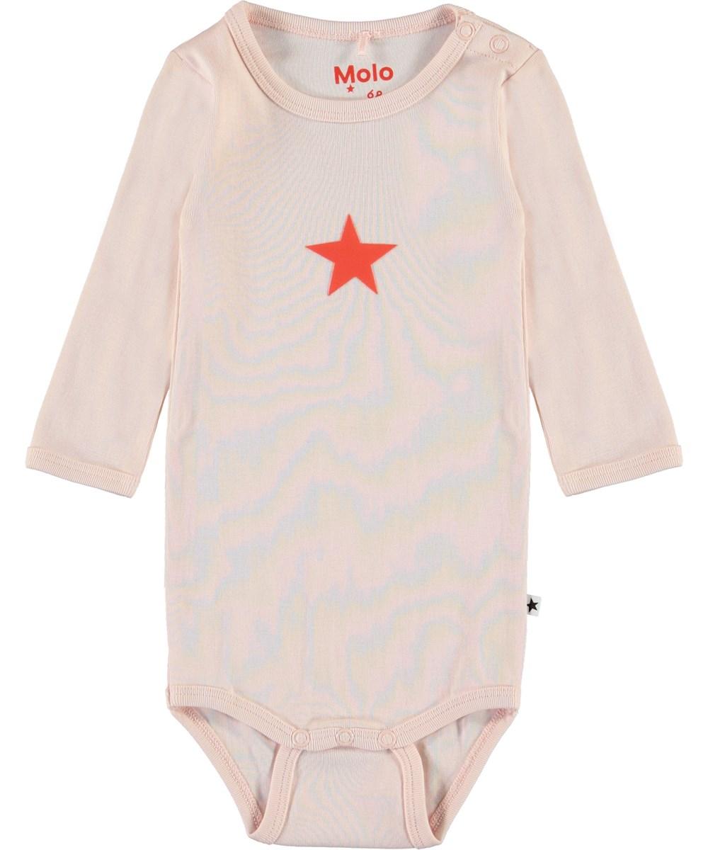 Foss - Peach Blossom - Pink organic baby bodysuit