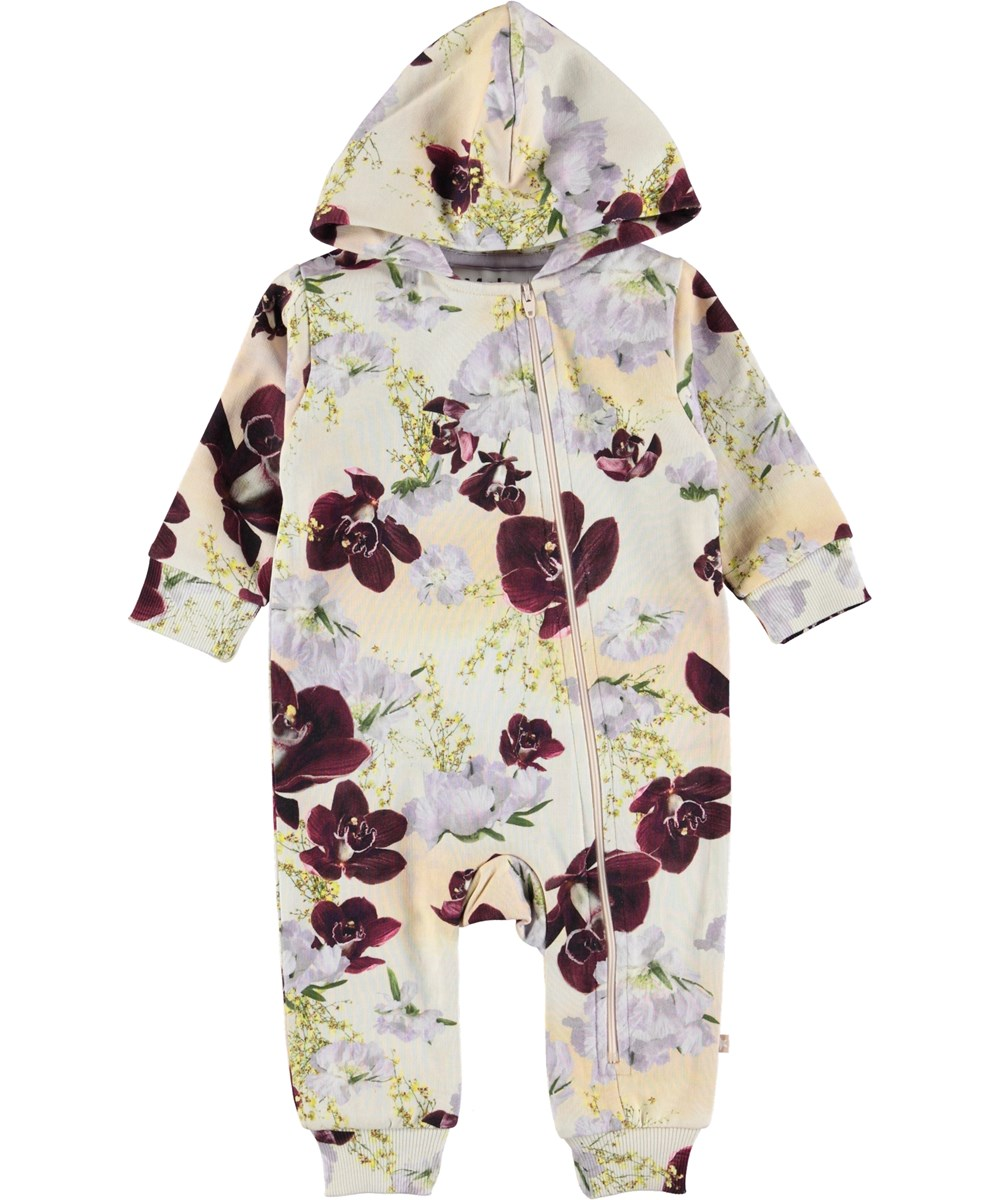 Fowo - Oriental Flowers - Baby romper with flowers.