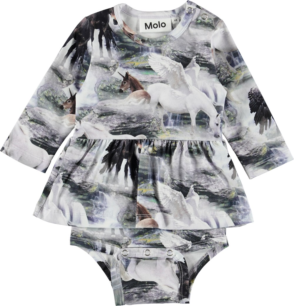 Frances - Mythical Creatures - Baby bodysuit with unicorns.