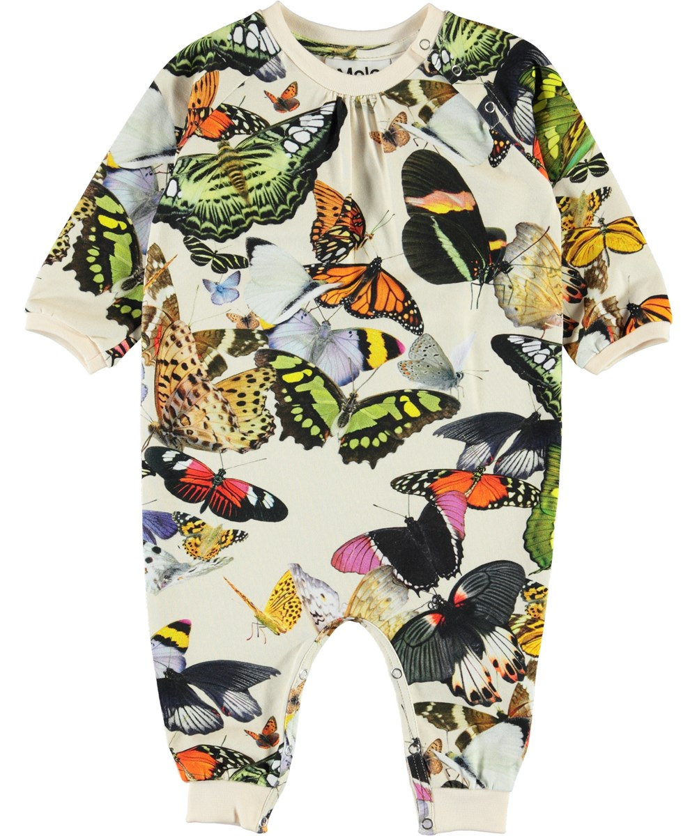 Francine - Papillon - Organic baby romper with butterflies