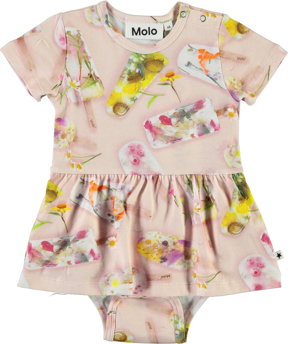 Frannie - Ice Lollies - Baby body with ice cream print and skirt