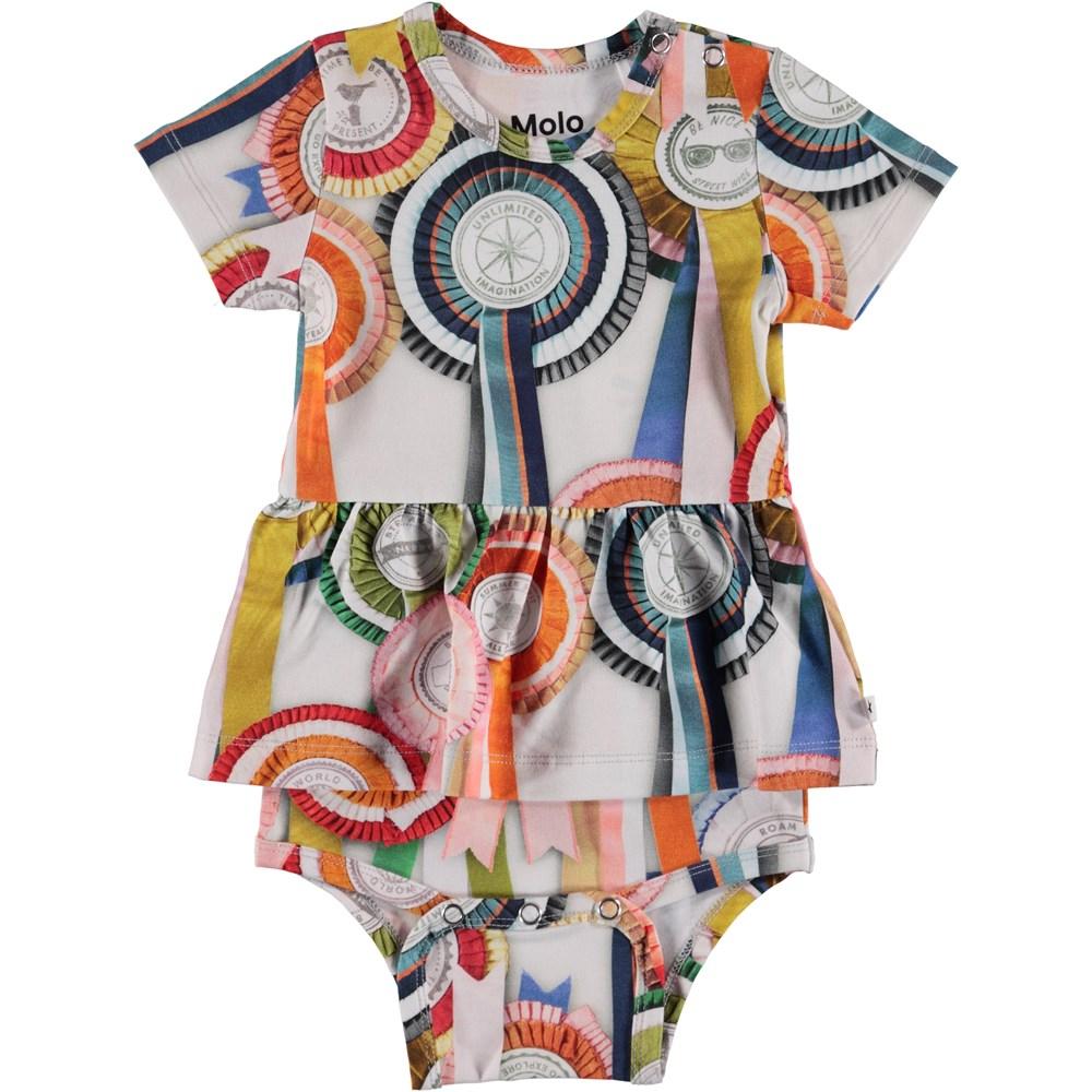 Frannie - Rosettes - Baby Bodysuit