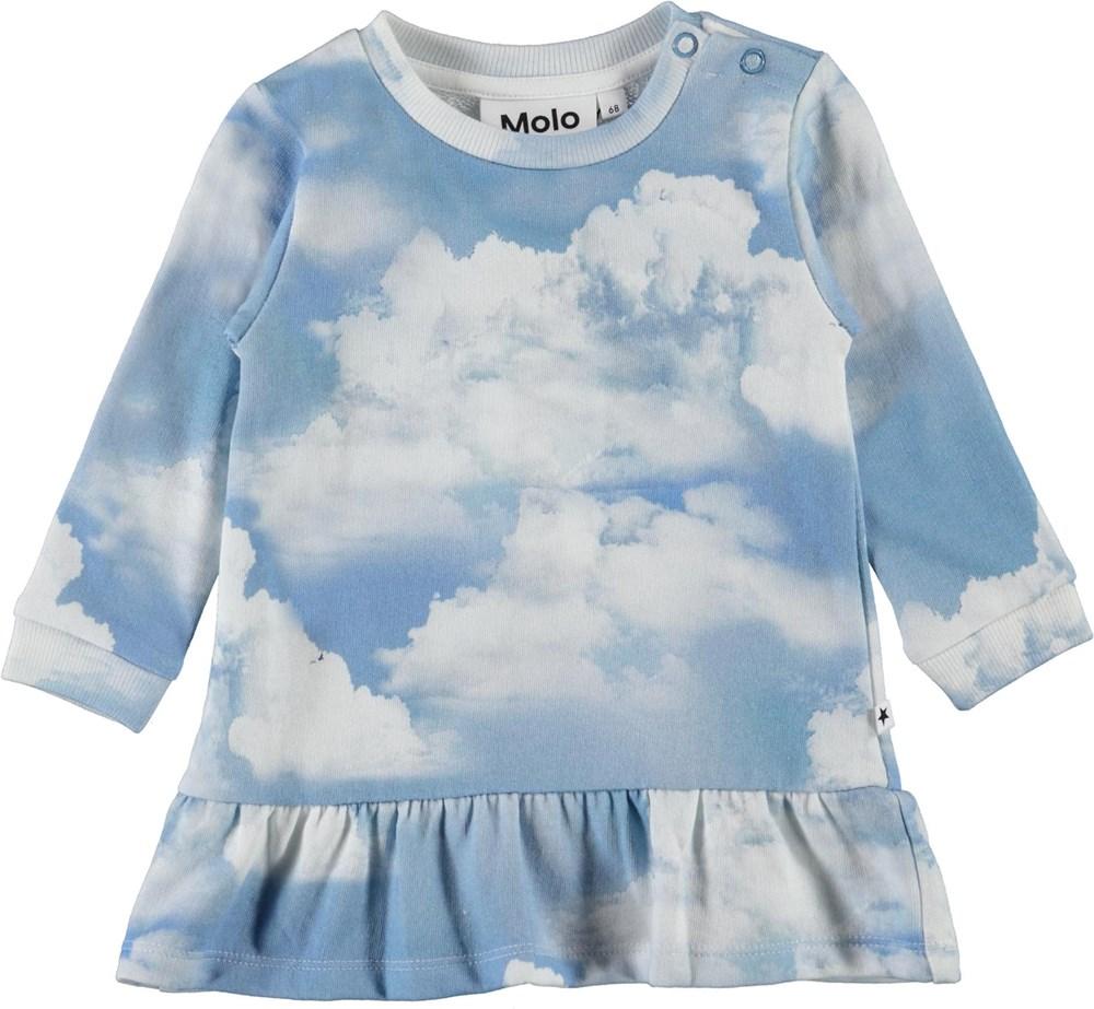 Calypso - Clouds - Organic baby dress with cloud print