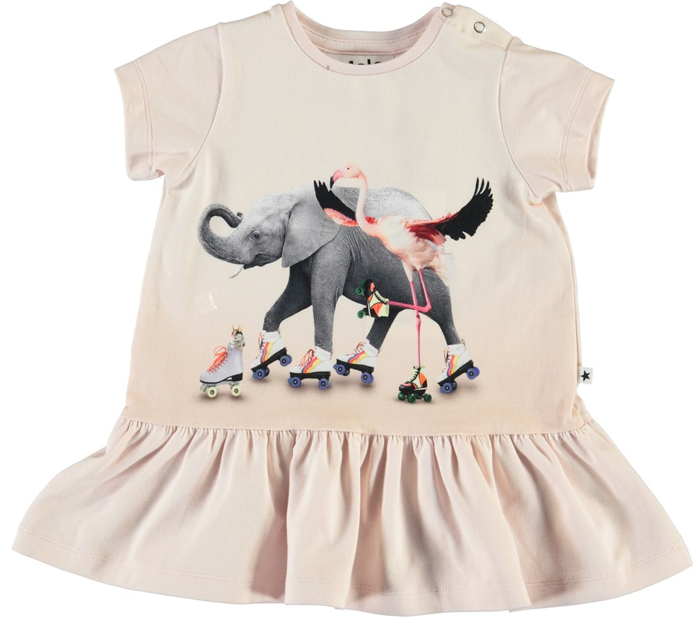 Campa - Rolling Friends - Baby dress with animals and roller skates