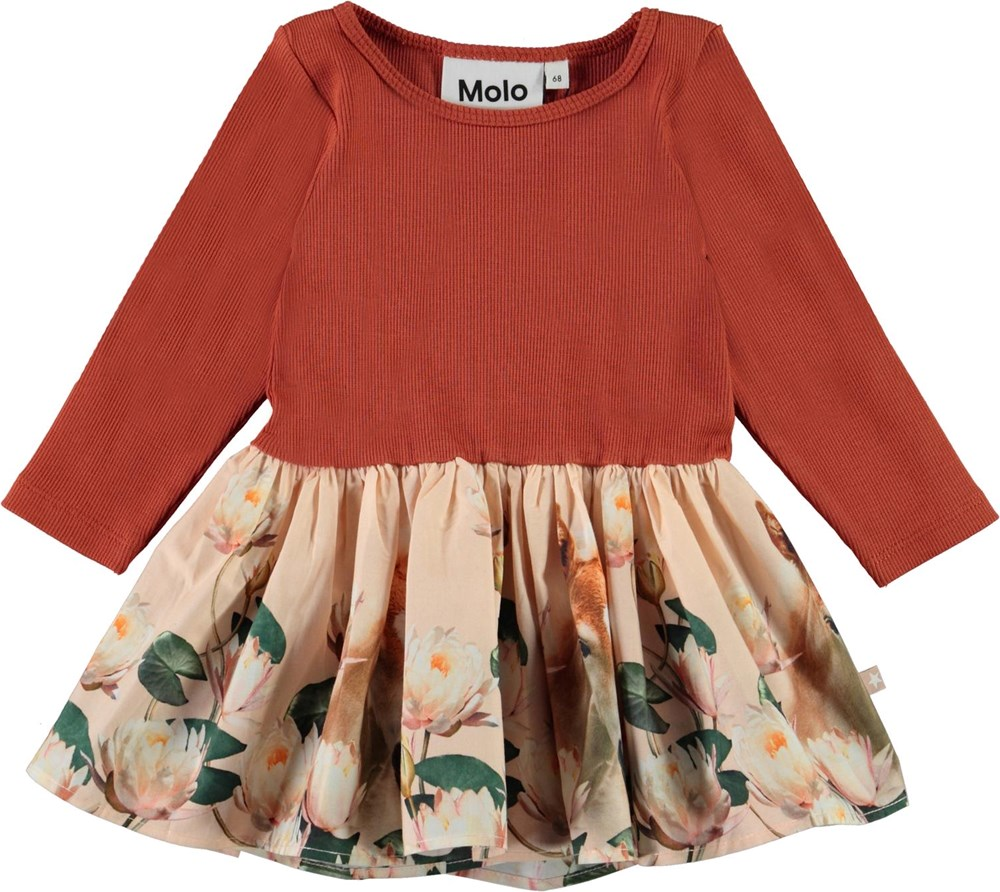Candi - Little Foal - Organic baby dress with foal and water lilies