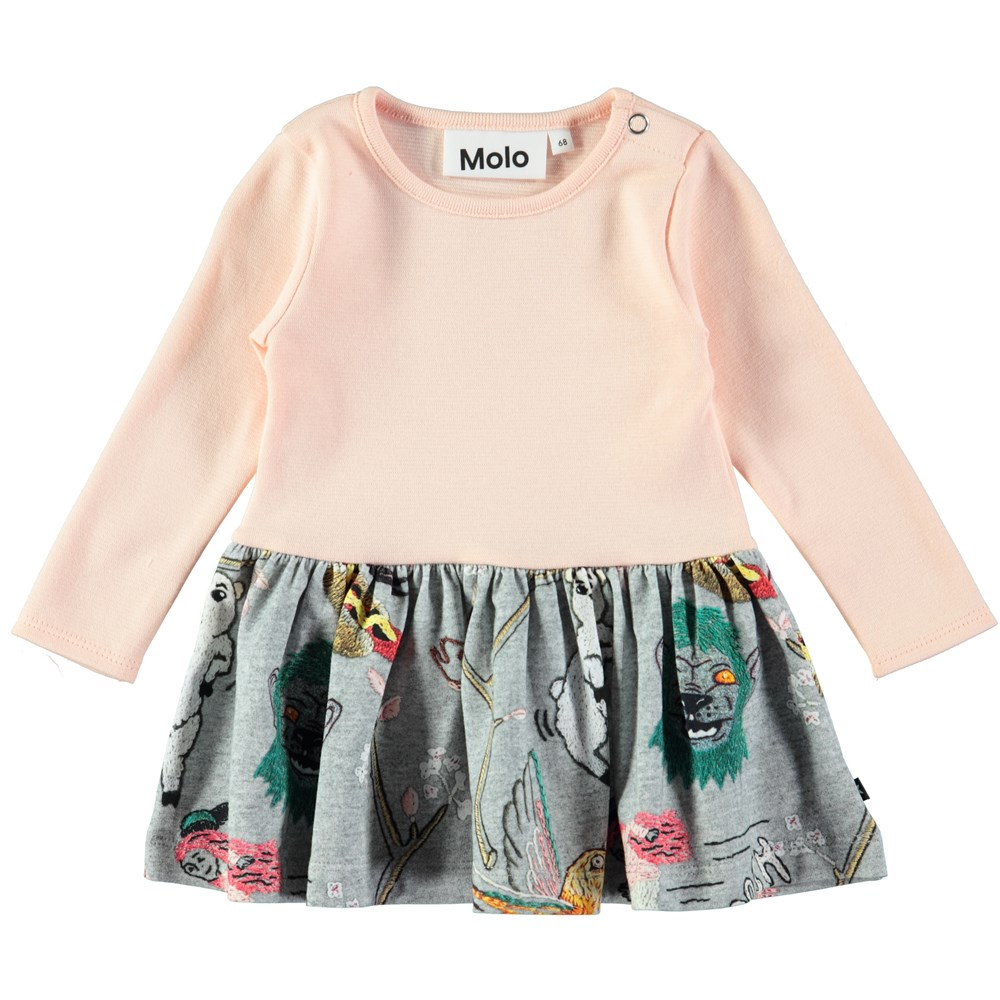Carel - Made By Hand - Baby dress in a two-part look with digital embroidery print