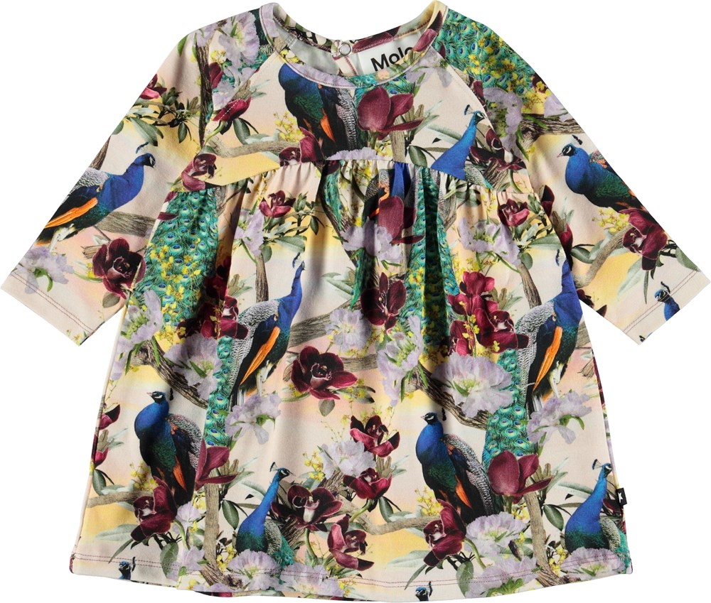 Carlys - Oriental Peacocks - Baby dress with peacocks.