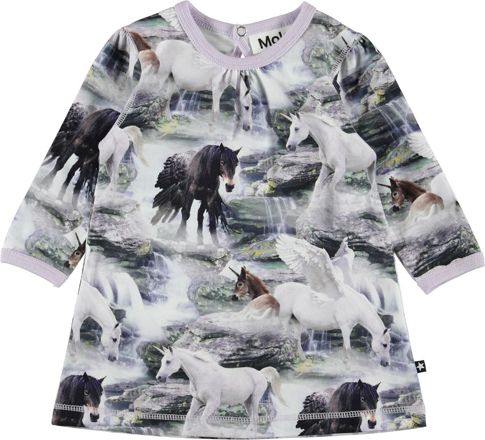 Caroline - Mythical Creatures - Baby dress with unicorns.