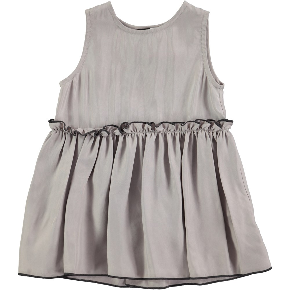 Cerys - Opal Grey - grey baby dress in cupro