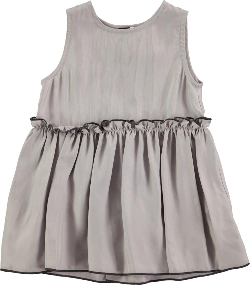 Cerys - Opal Grey - grey baby dress in cupro