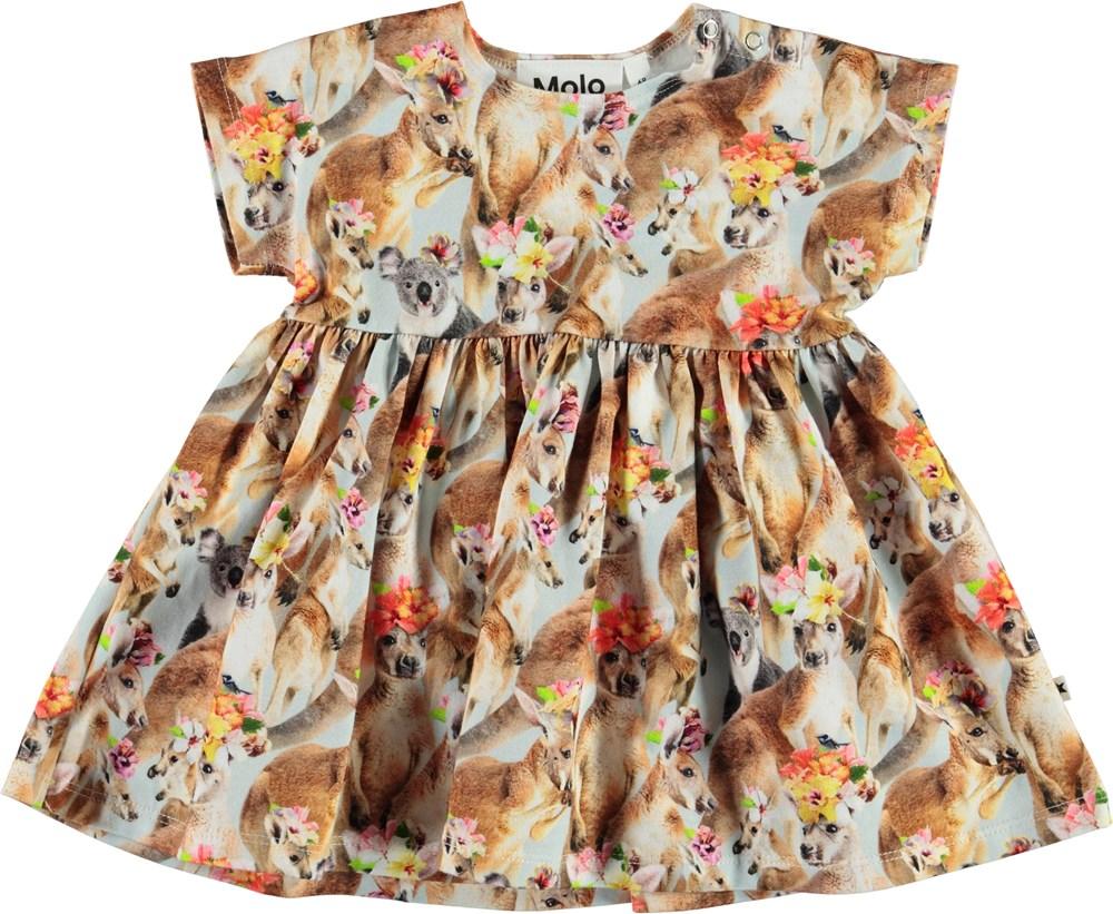 Channi - Kindred Kangaroo - Organic baby dress with kangaroos