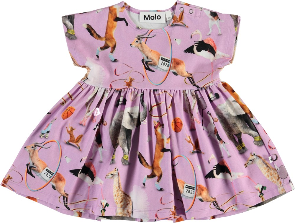 Channi - Made For Motion - Organic baby dress with animals