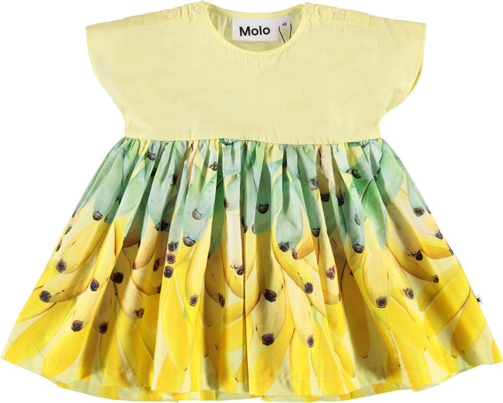 Channi - Mini Bananas - Organic baby dress with bananas