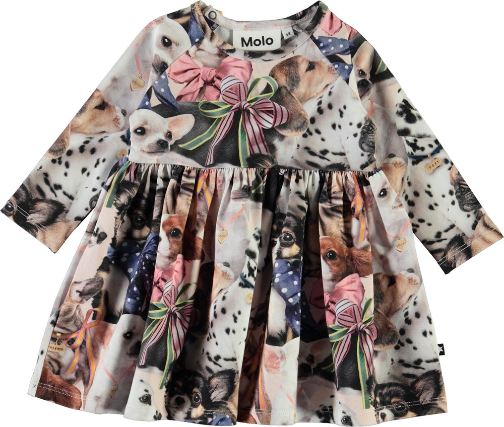 Charmaine -  Puppy Love - Organic baby dress with dogs