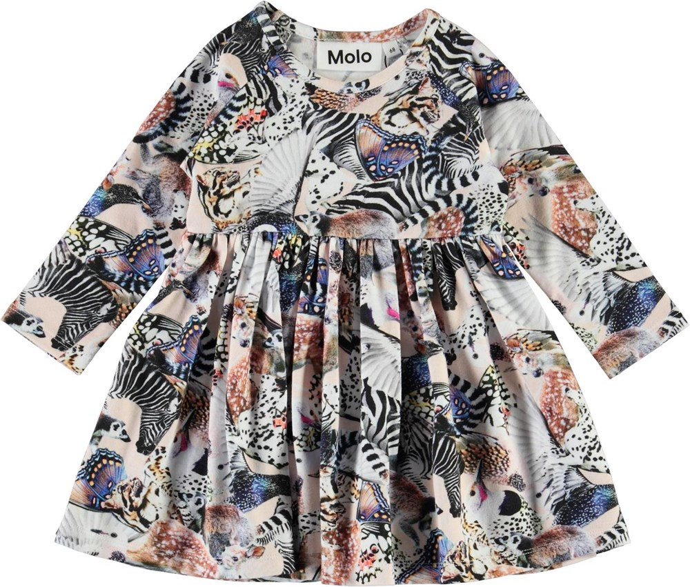 Charmaine - Twister - Organic baby dress with animals