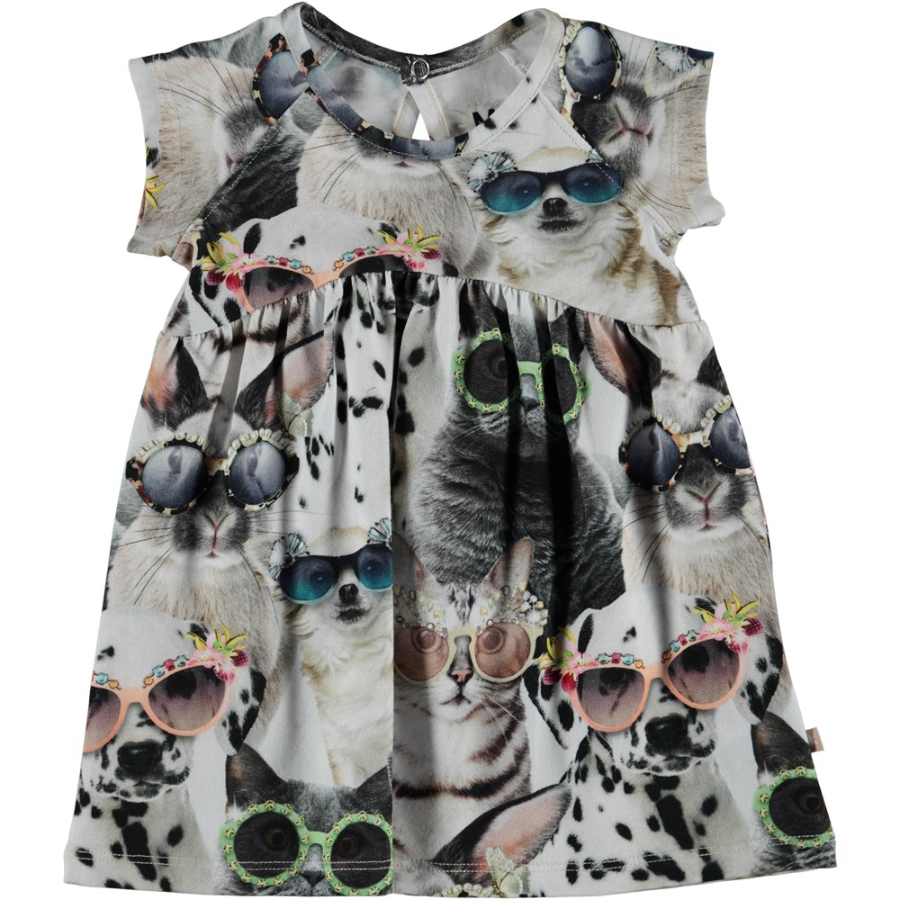 Cille - Sunny Funny - Baby dress with animal print.