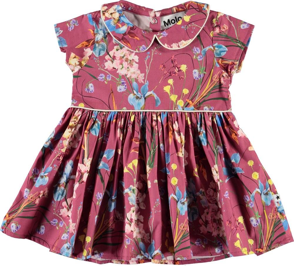 Cinna - Ikebana Rose - Organic baby dress with flowers