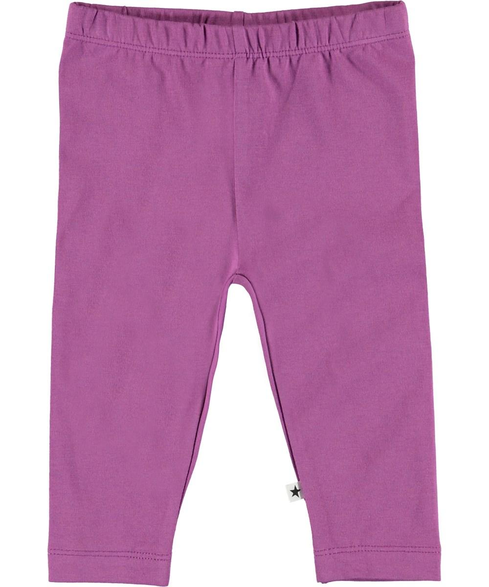 Nette Solid - Amethyst - Organic purple baby leggings