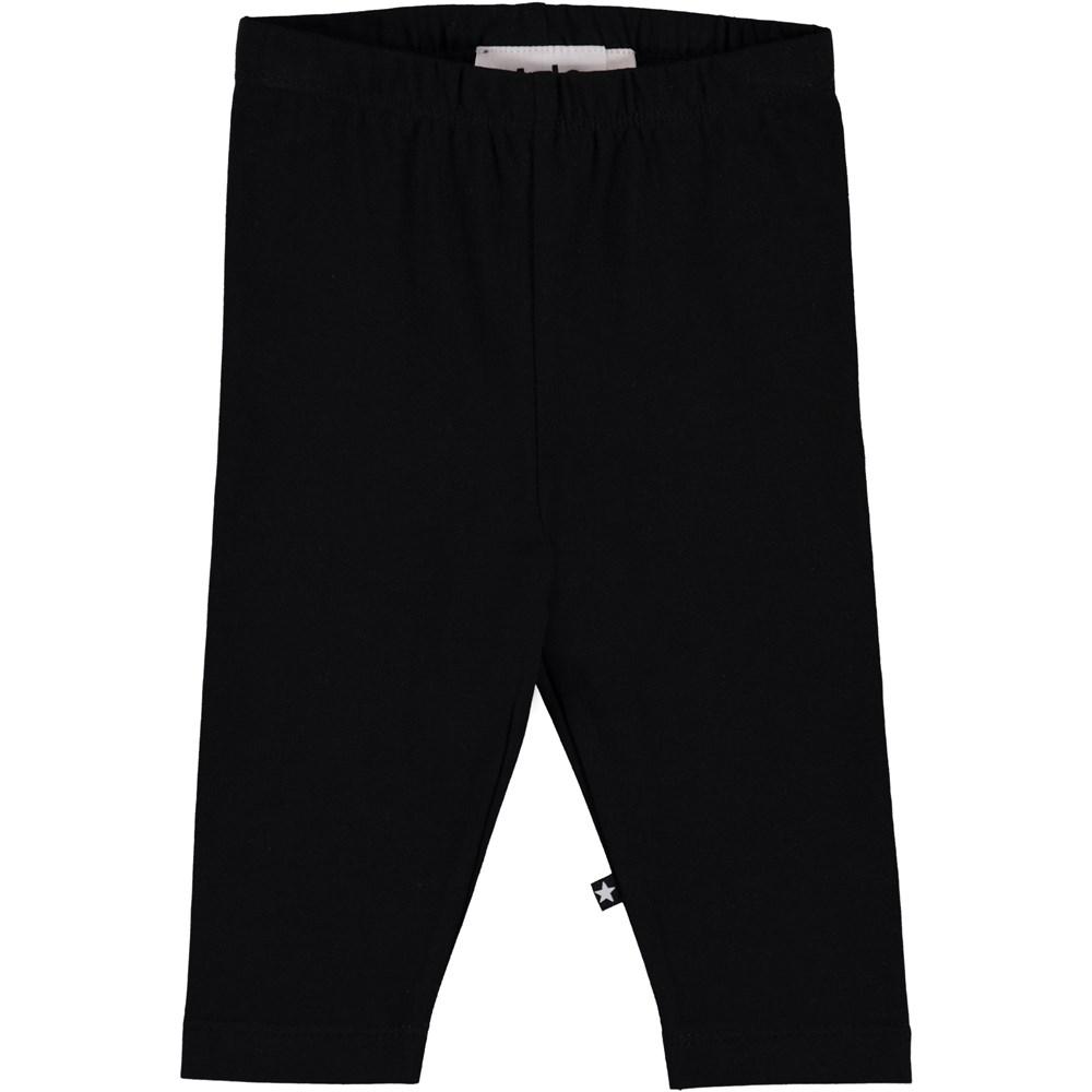 Nette Solid - Black - Black baby leggings.