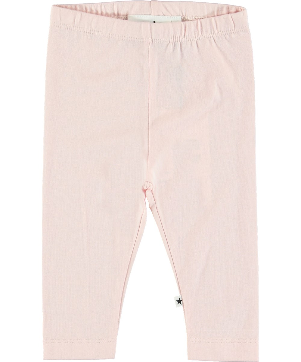 Nette Solid - Chalk Pink - Pink baby leggings.