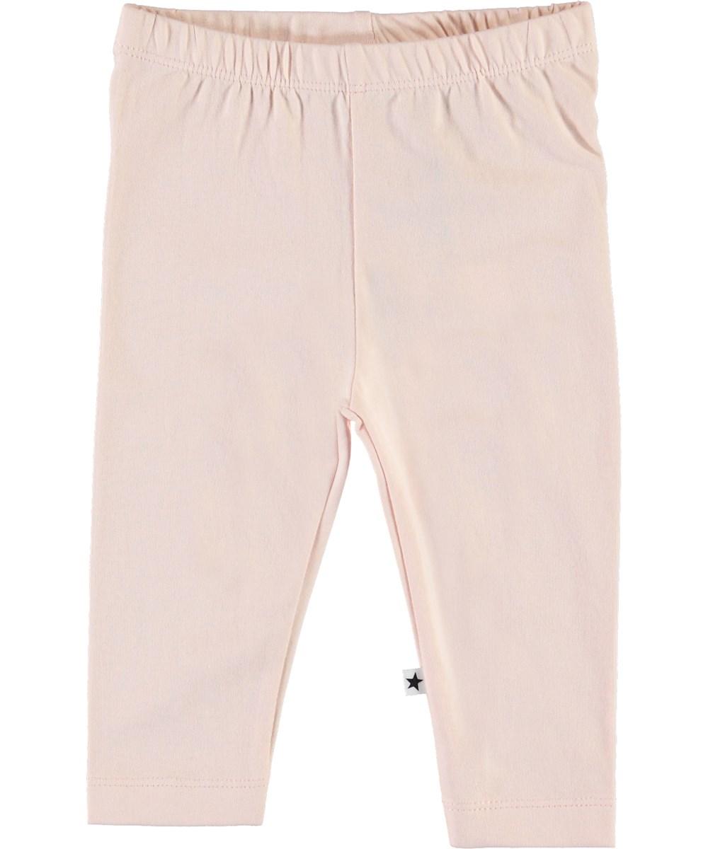 Nette Solid - Peach Blossom - Rose organic baby leggings