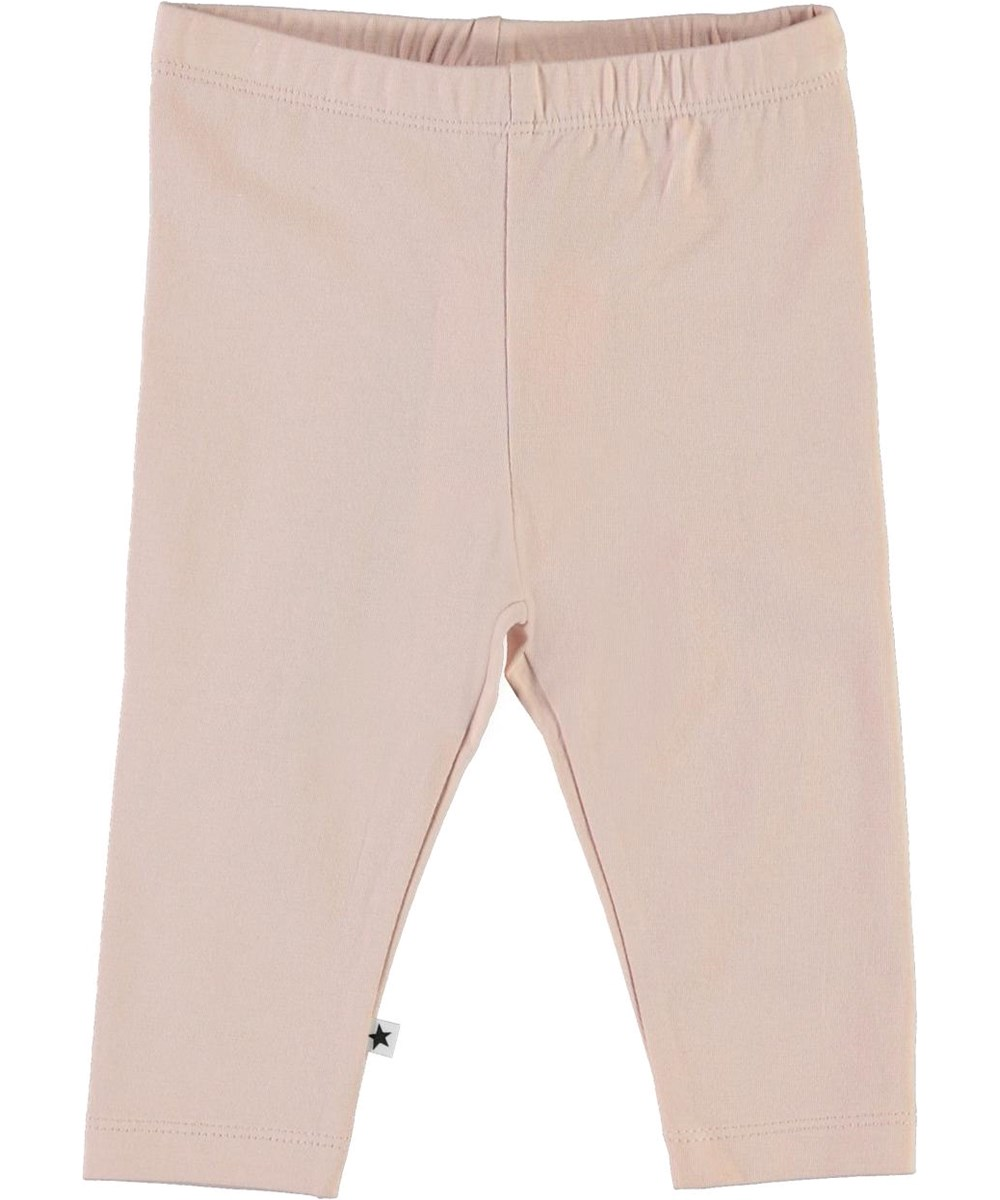 Nette solid - Petal Blush - Rose organic baby leggings