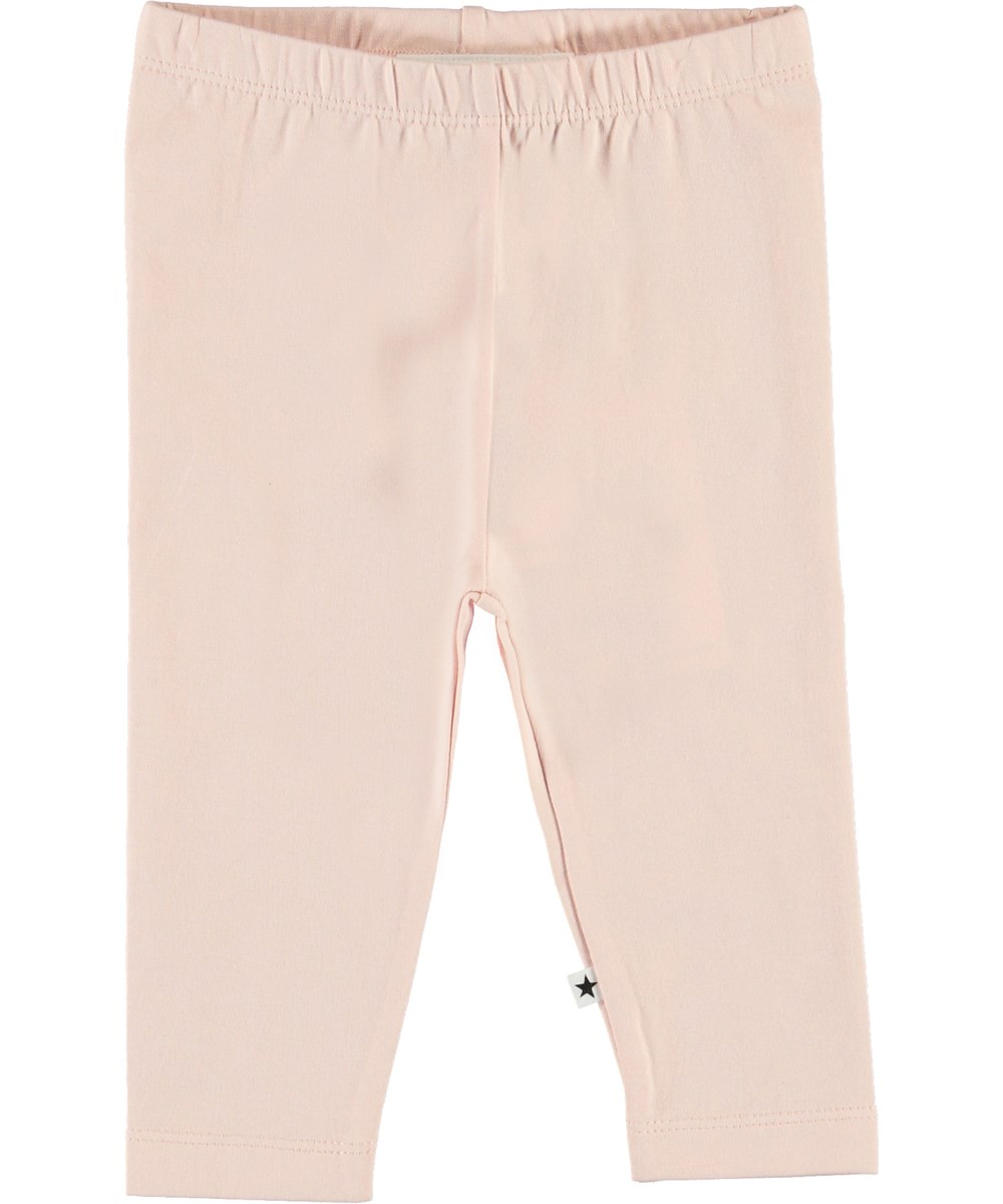 Nette Solid - Powder - Organic pink baby leggings