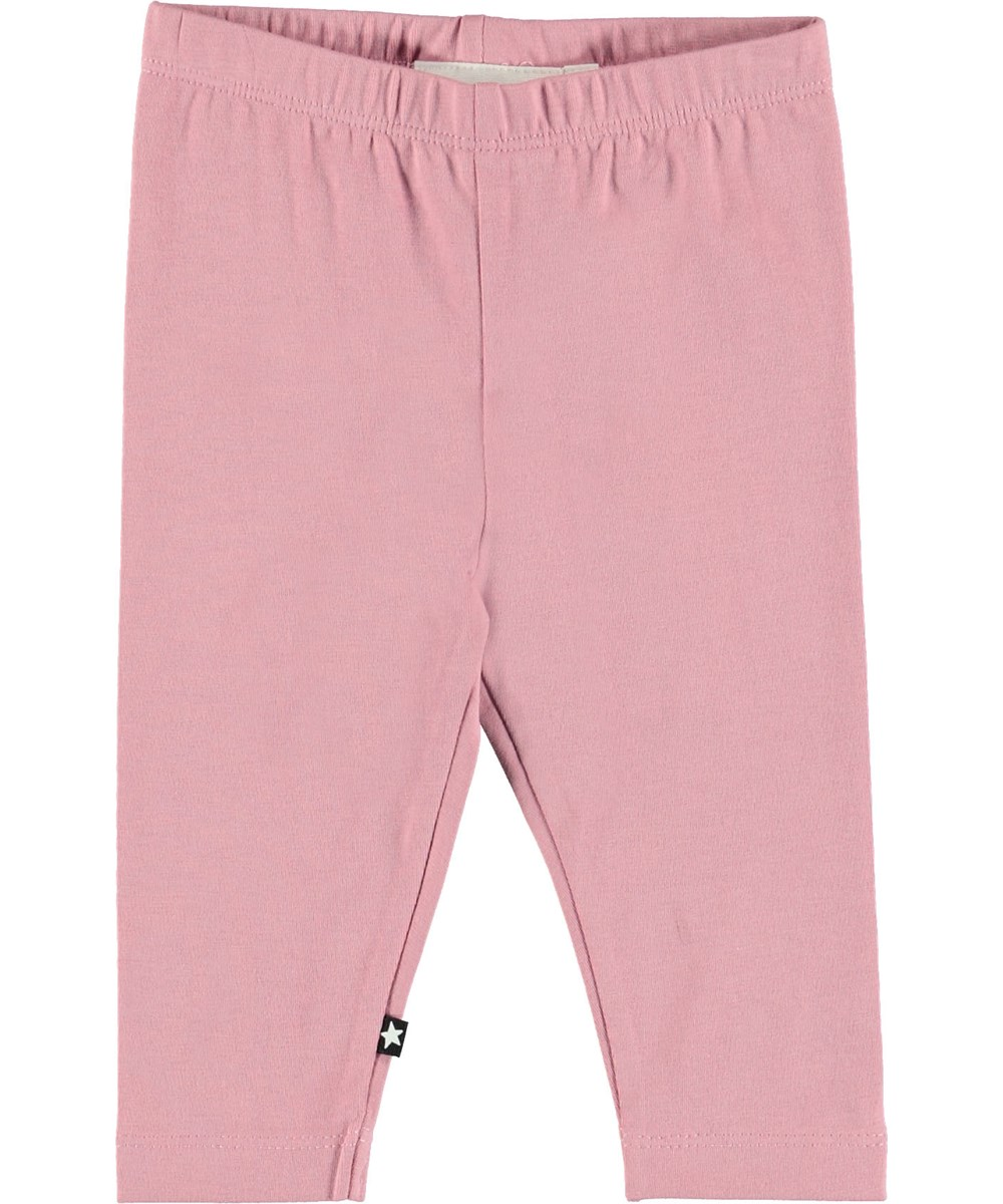 Nette Solid - Purple Haze - Rose baby leggings.