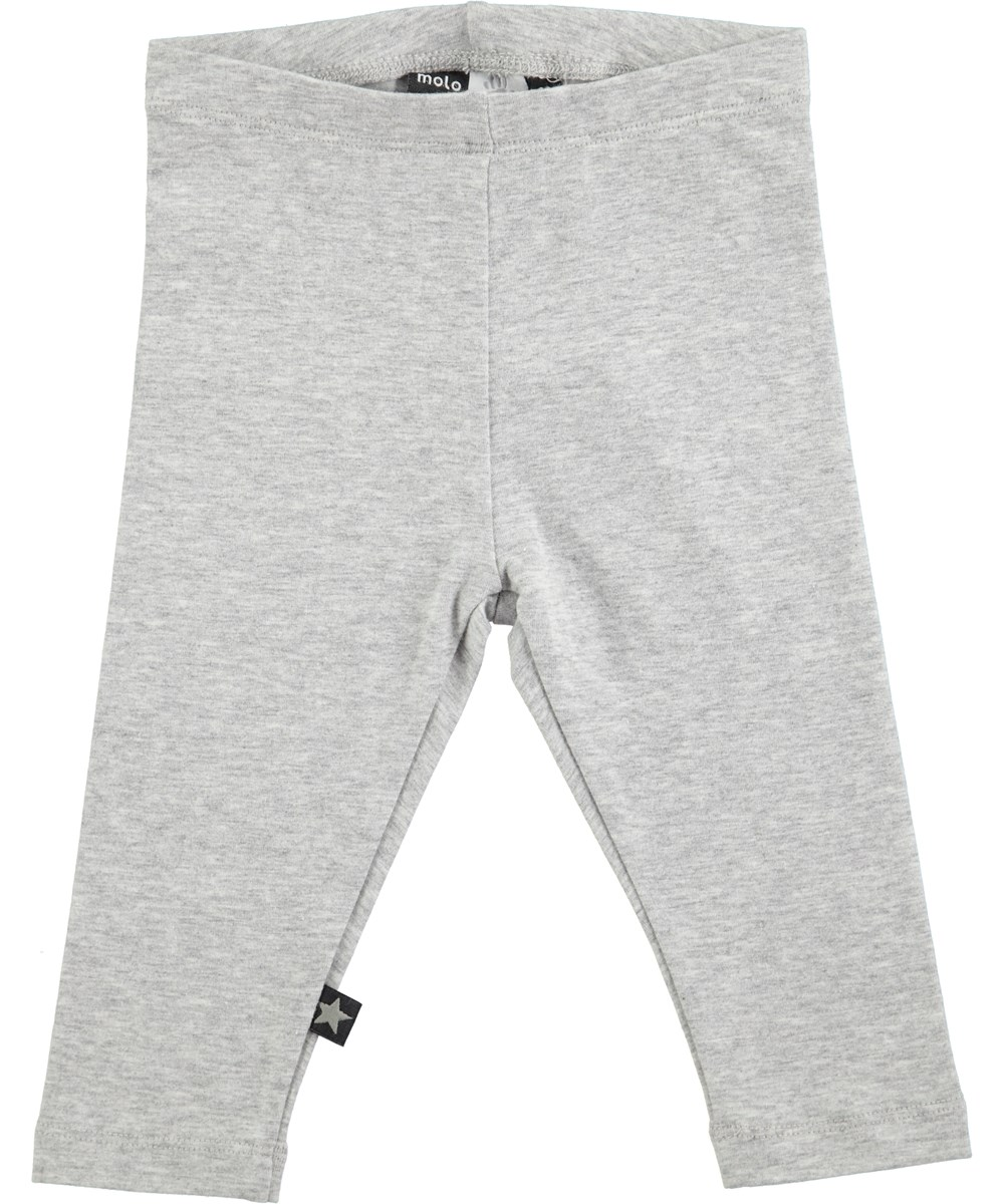 a4849ac517026 Nette Solid - Grey Melange - grey baby leggings - Molo