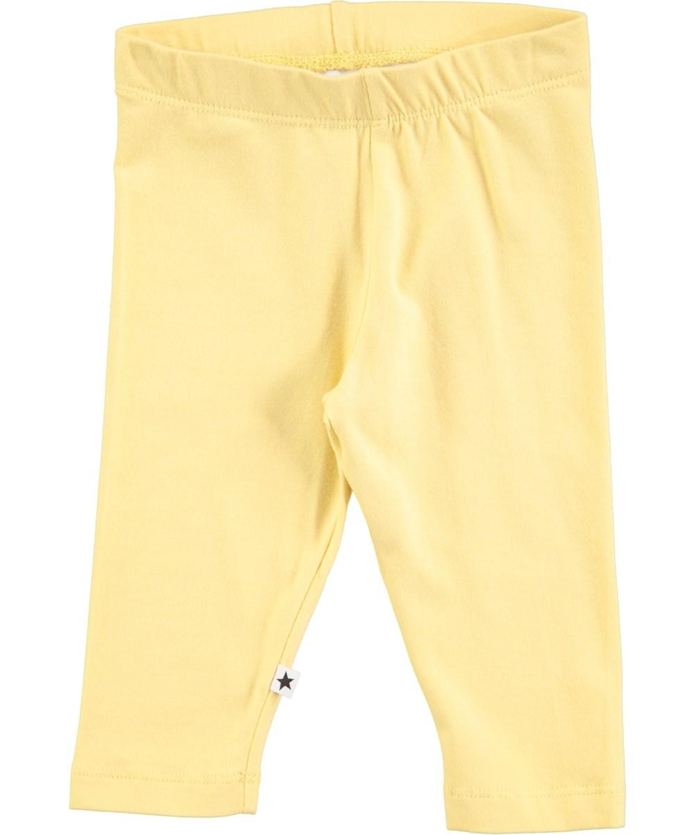 Nette Solid Raffia Yellow Baby Leggings Molo