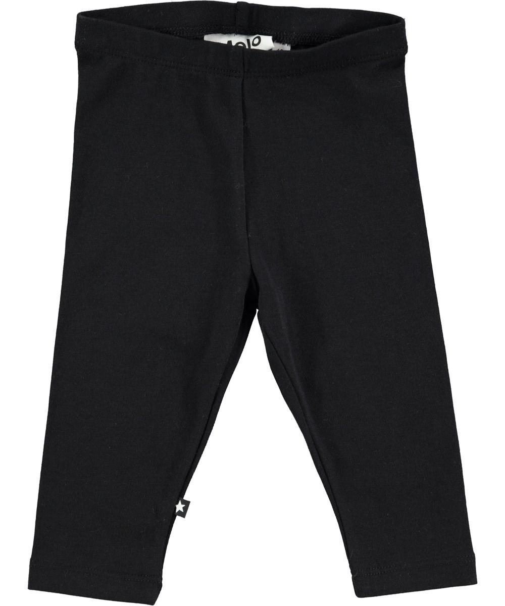 Nette solid - Black - Black cotton legging