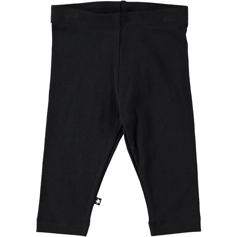 Nette solid - Black - Black baby leggings