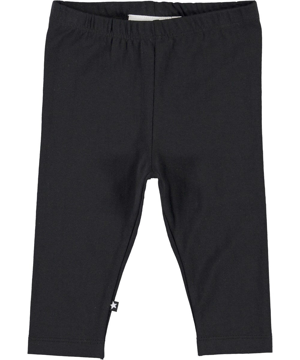 Nette Solid - Black - Black organic leggings