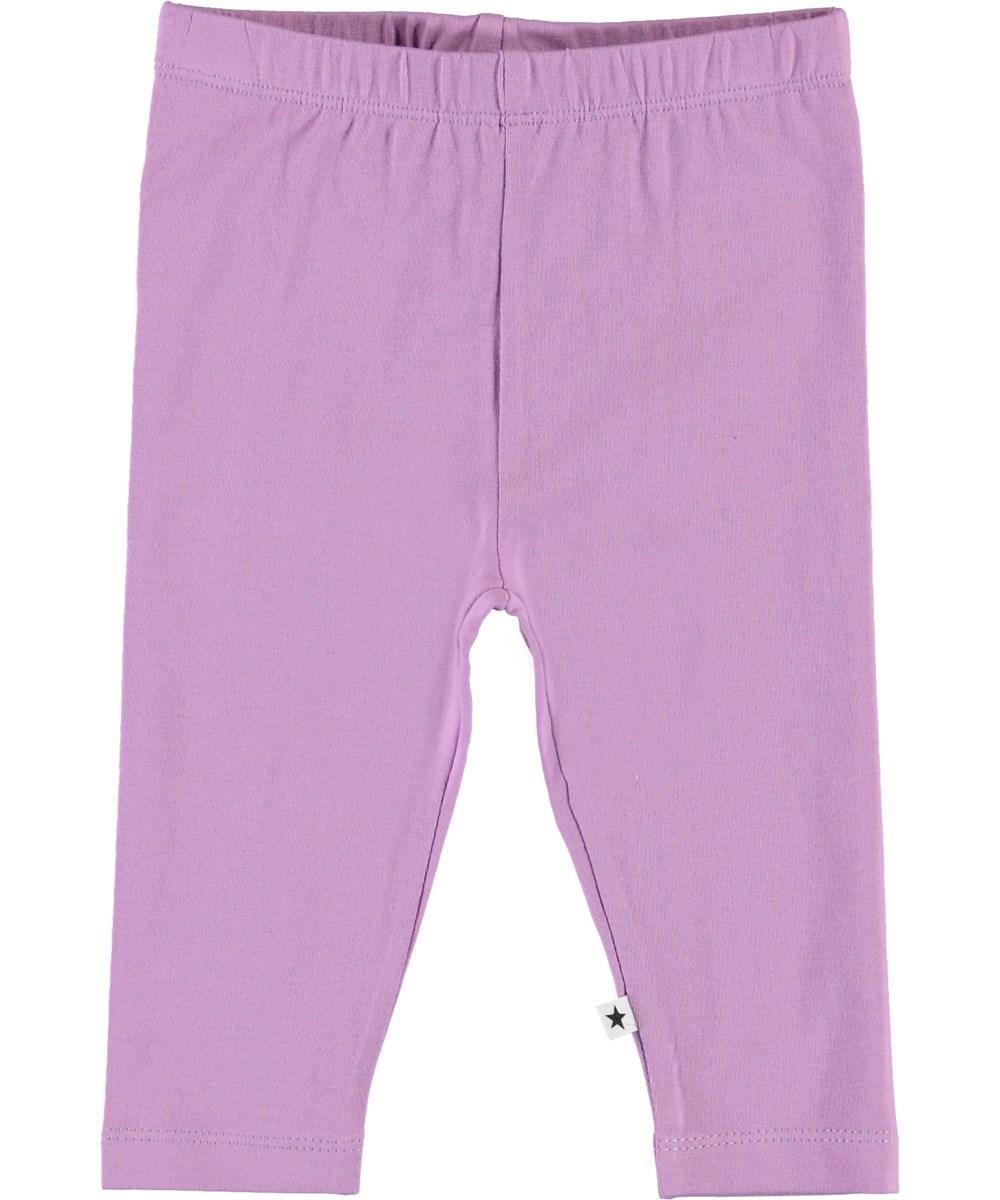 Nette Solid - Manga Purple - Purple organic baby leggings
