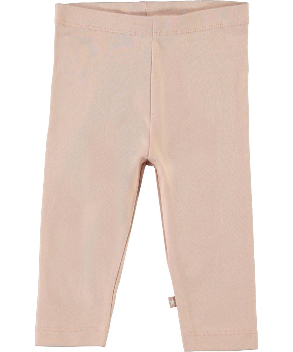 Nette solid - Cameo Rose - Rose organic baby leggings