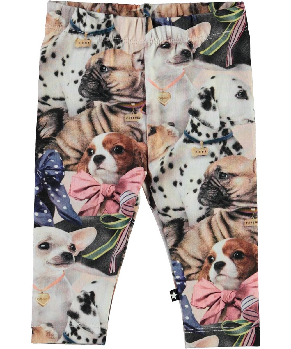 Stefanie -  Puppy Love - Organic baby leggings with dogs