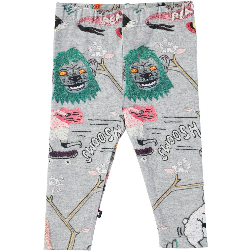 Stefanie - Made By Hand - Baby leggings with digital embroidery print