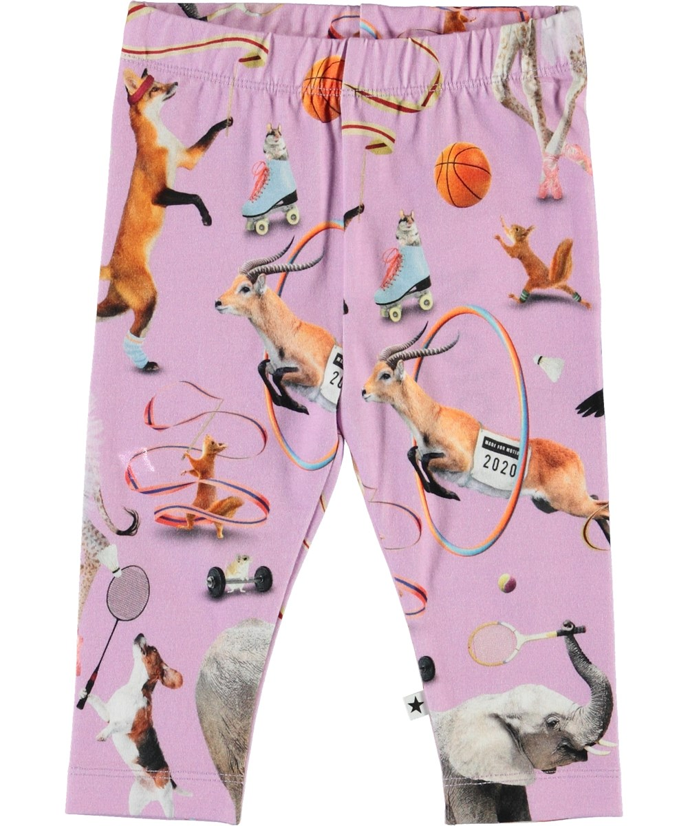 Stefanie - Made For Motion - Organic baby leggings with animals