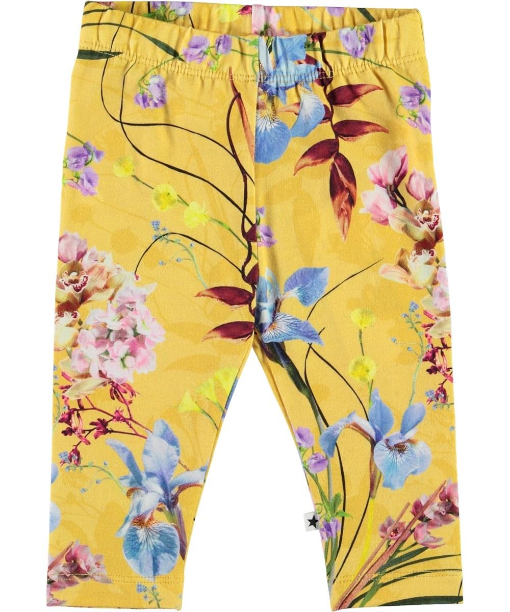 Stefanie - The Art Of Flowers - Organic baby leggings with flowers