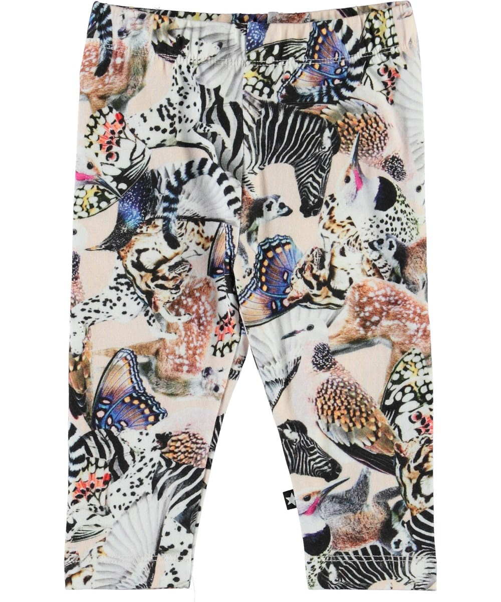 Stefanie - Twister - Organic baby leggings with animals