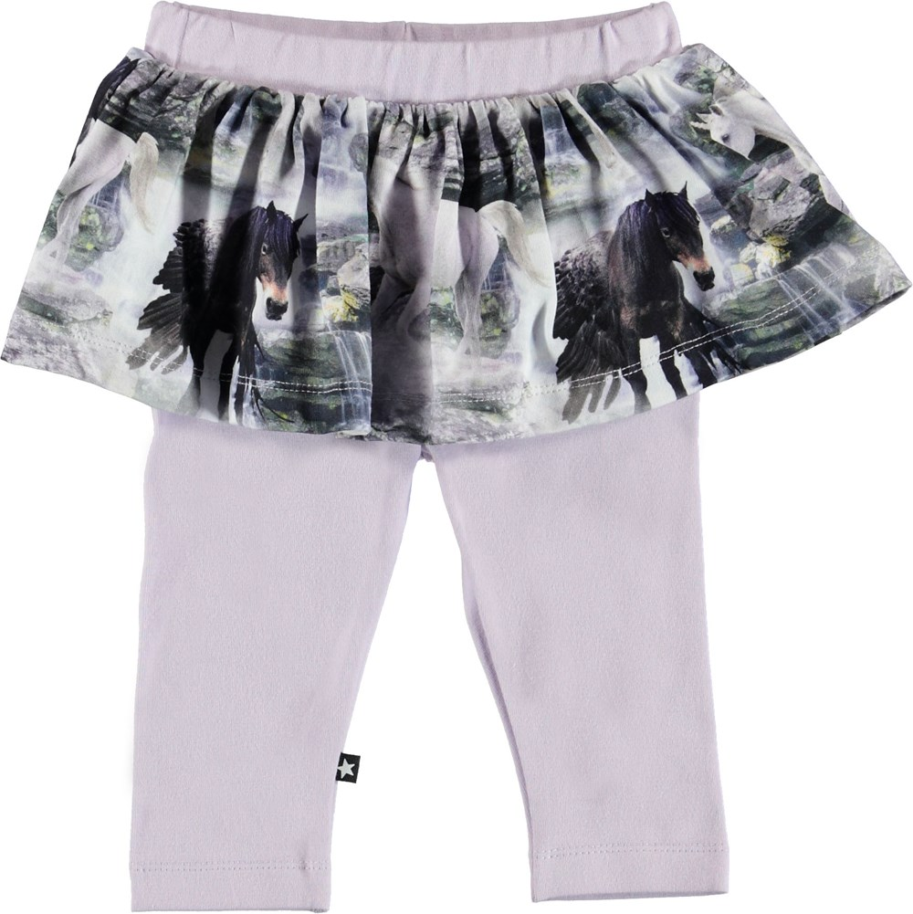 Susan - Mythical Creatures - Rose baby leggings with skirt.